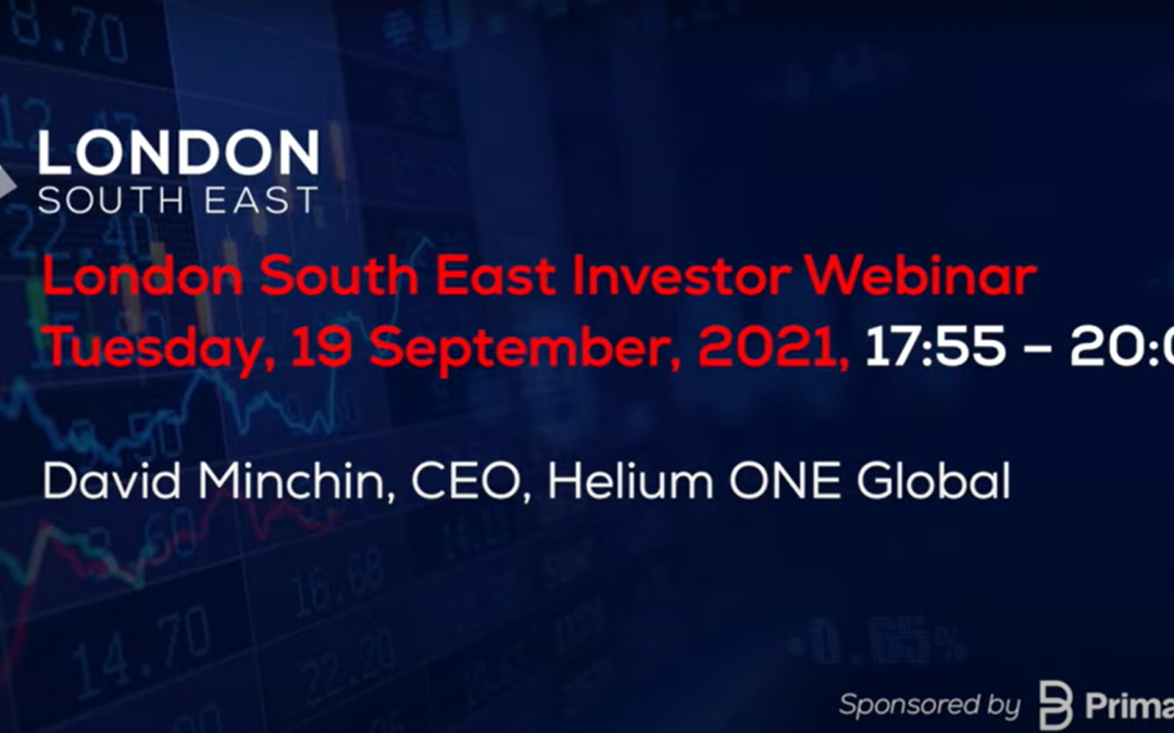 David Minchin, Helium One CEO outlines Rukwa Phase 2 at London South East live event (video)